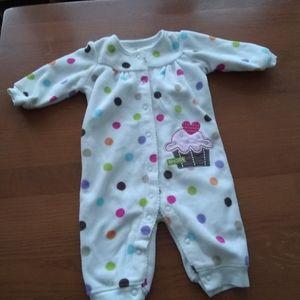 Carter's Super~Cute Fleece Cupcake Pajamas